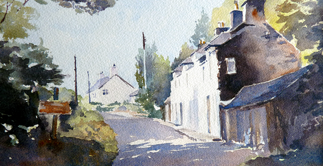 Cottages on the Ross by Anthony Taylor